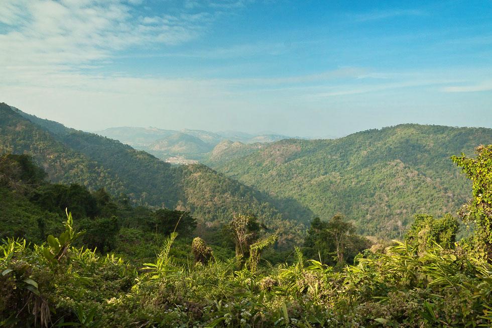 The green mountains of Khao Yai National Park