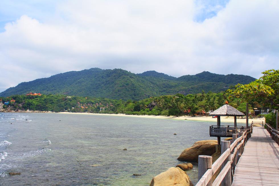 Overview of Leela Beach