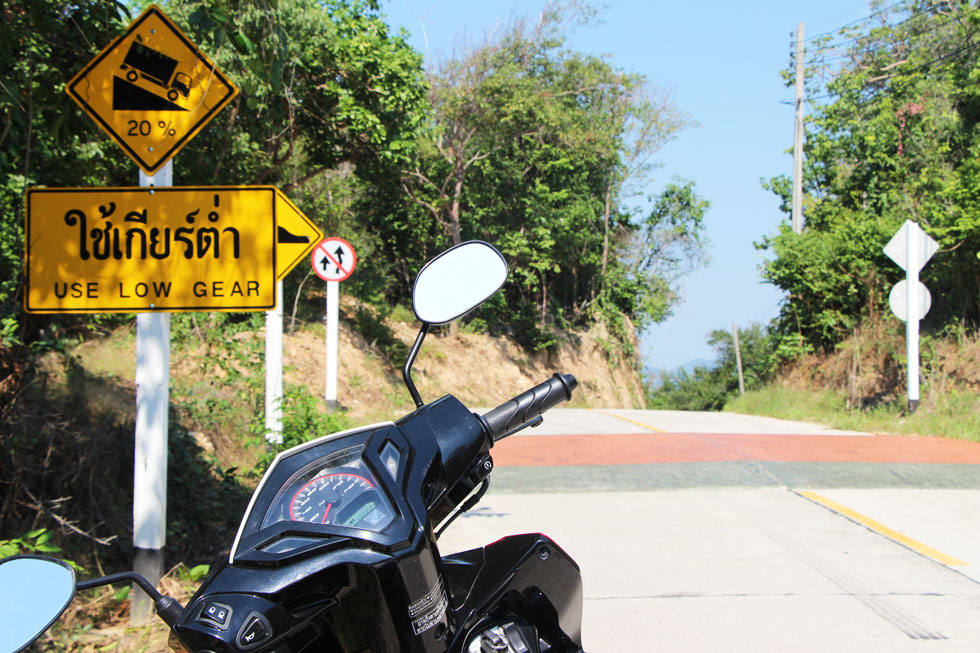 Driving a motorbike on Koh Samet