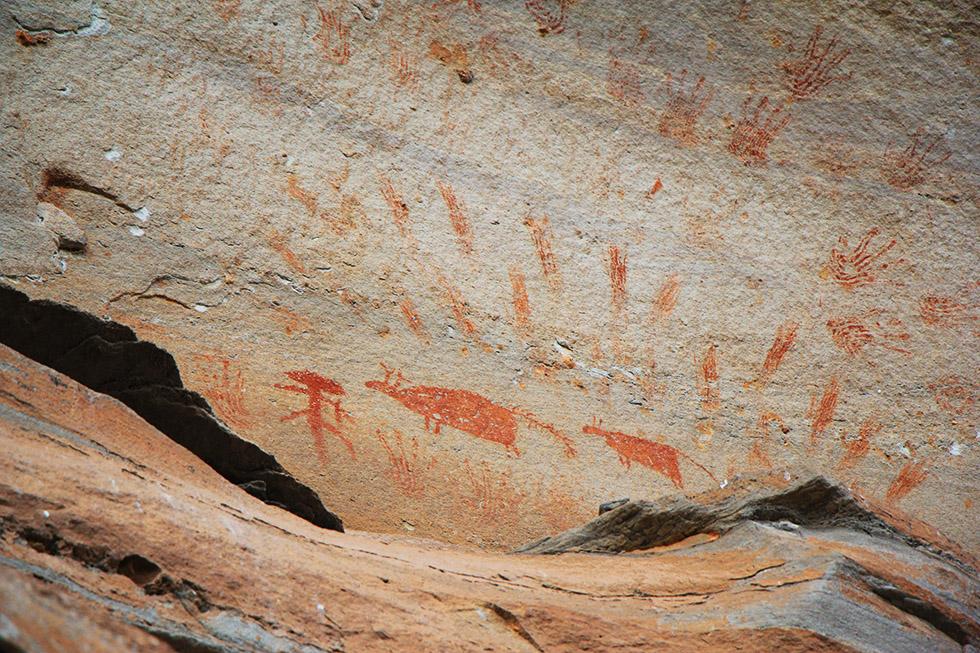 Rock Paintings in Pha Taem National Park