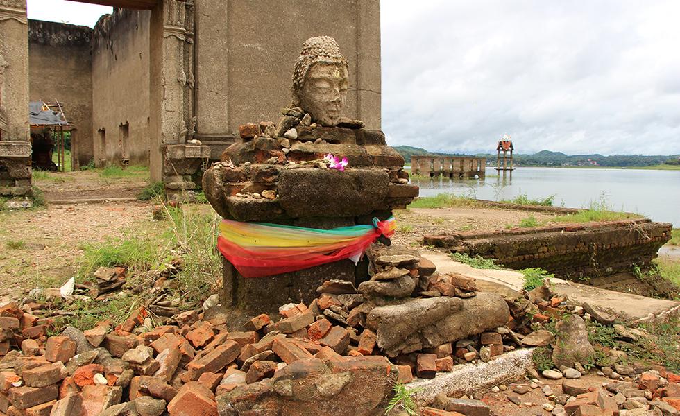 Crumbling temple in Sangkhlaburi
