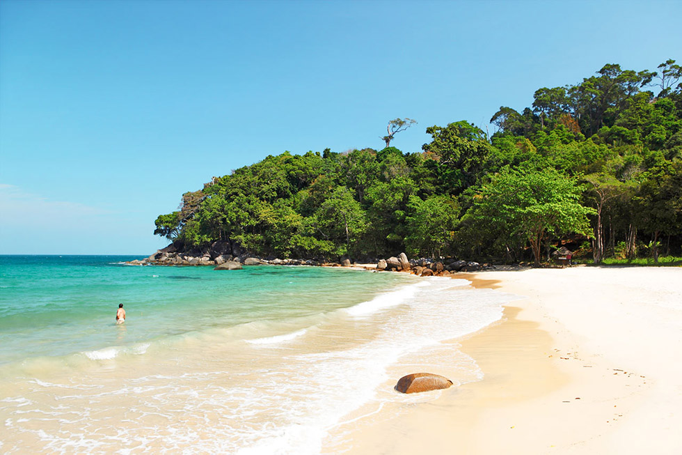 Small Sandy Beach in Khao Lak