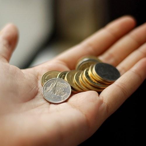 Thai Baht in coins