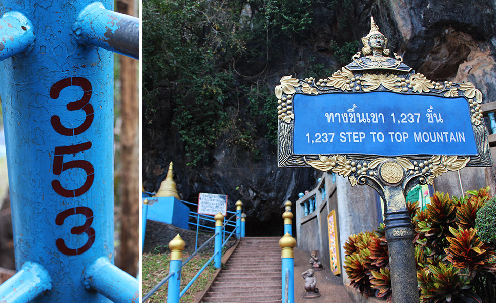 Are you ready for the 1,237 steps to the top? Tiger Cave Temple in Krabi