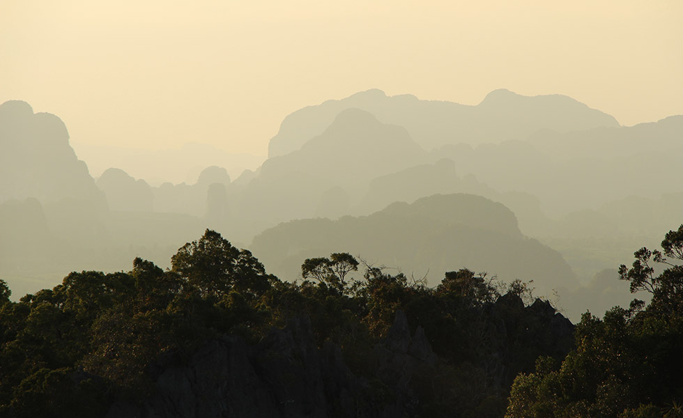 View from the Tiger Cave Temple in Krabi