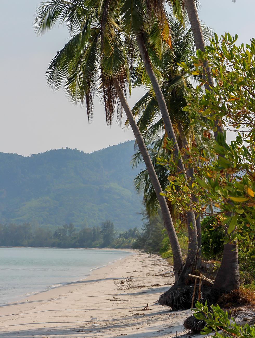 White sandy beaches at Koh Yao Yai