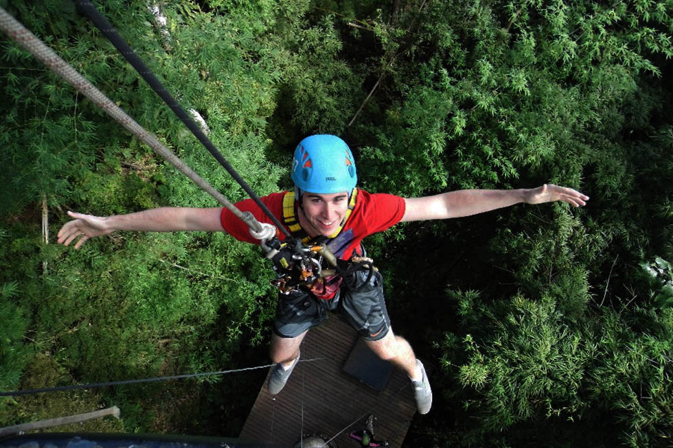 Massive drop - Ziplining Chiang Mai