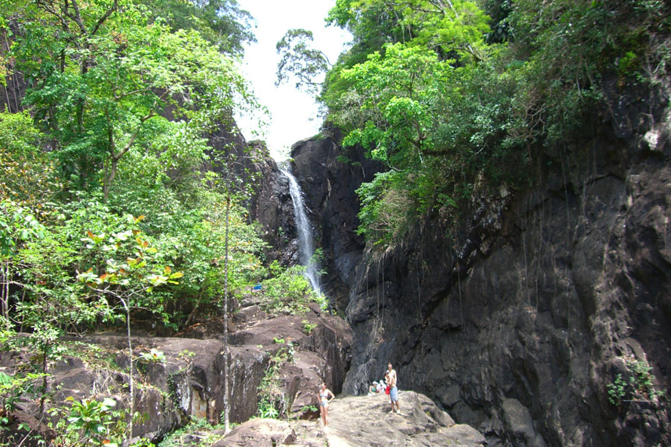 Klong Plu Waterfall in Koh Chang