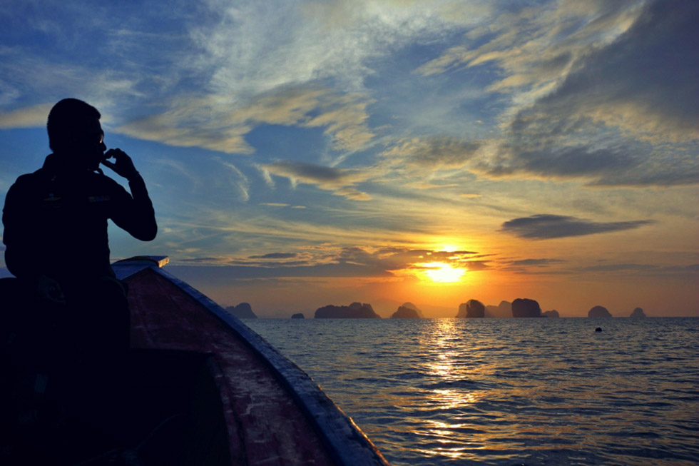 Beautiful sunset at Koh Yao Noi