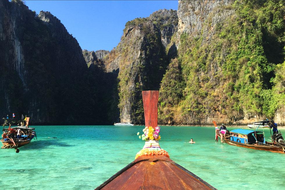 Phi-Leh Lagoon in Koh Phi Phi