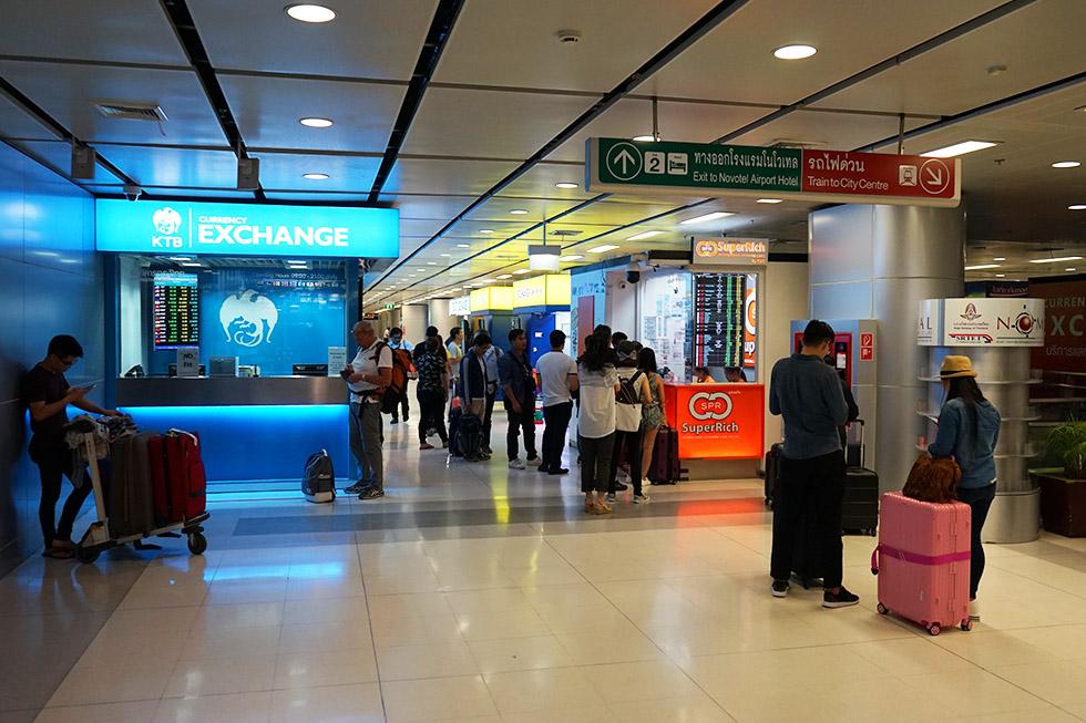 Super Rich Exchange Office at Suvarnabhumi Bangkok Airport