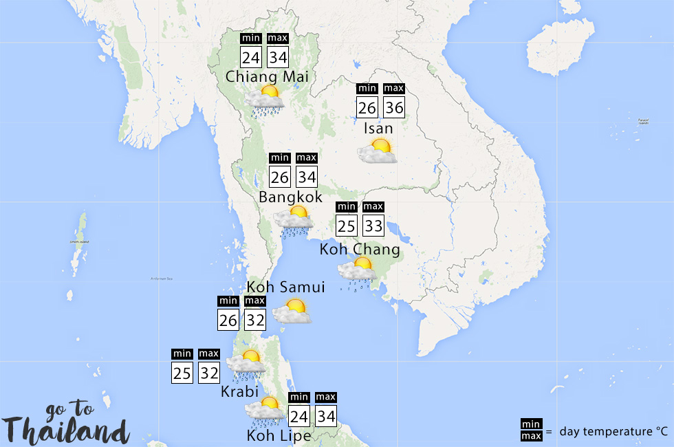 What to expect of the weather in Thailand in May