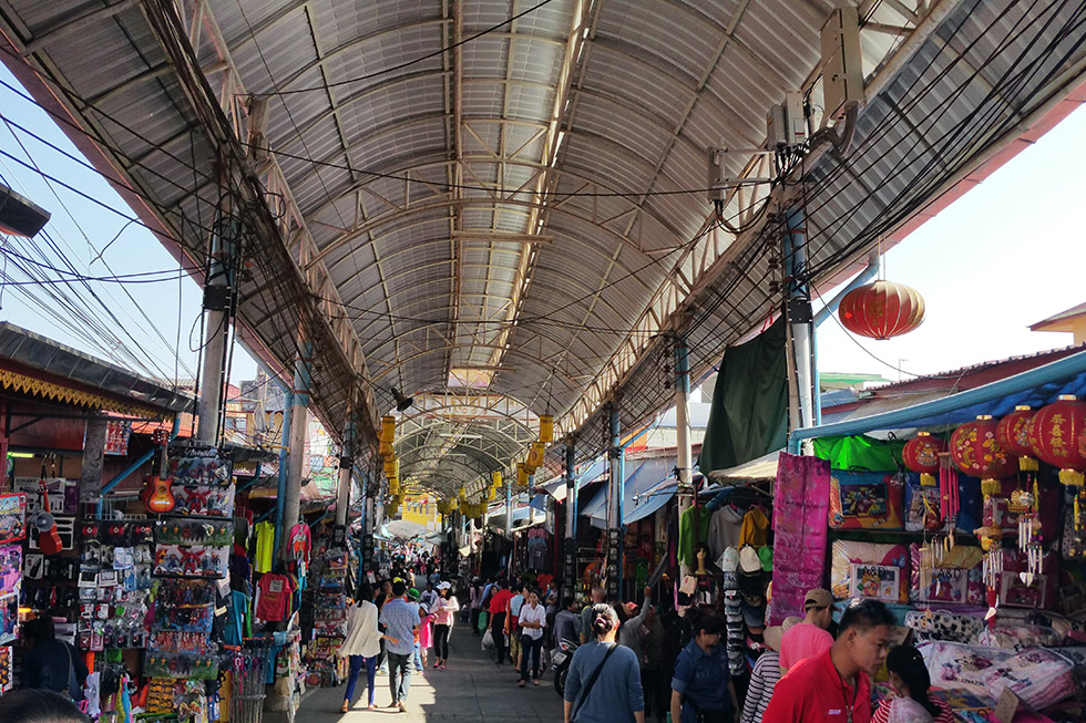 The lively market at Mae Sai
