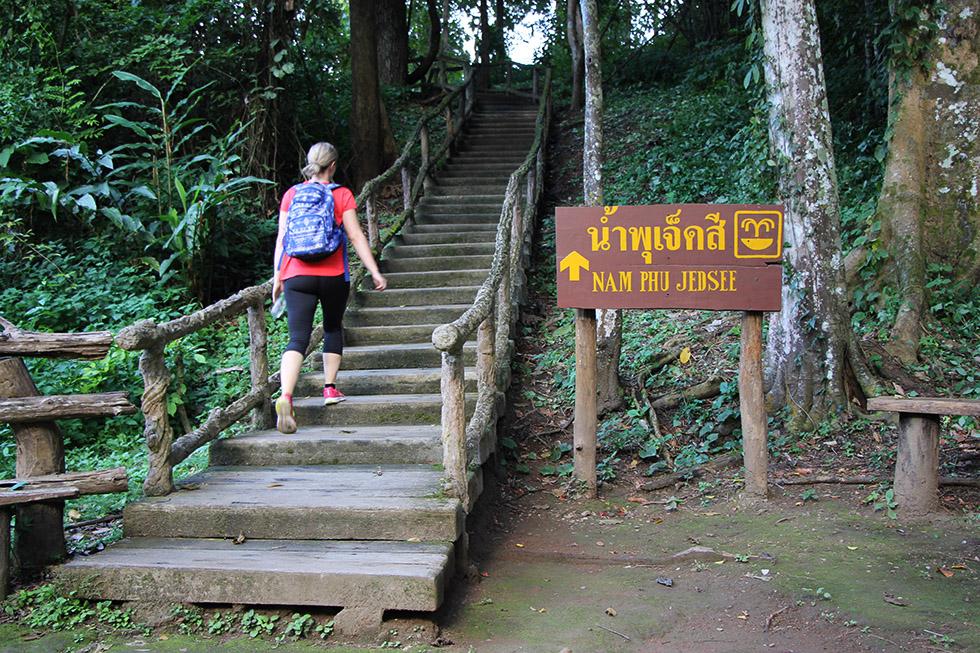 Nam Phu Jedse at Bua Thong Waterfalls near Chiang Mai