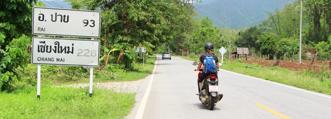 Driving from Mae Hong Son to Pai