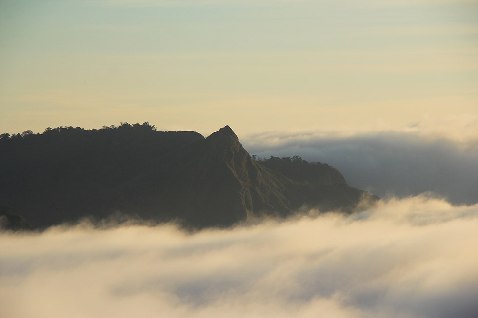 A sea of mist and mountains