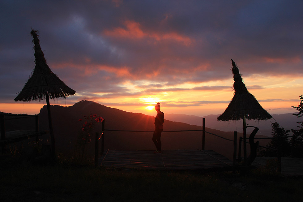 Phu Chi Fah's sunset is also beautiful