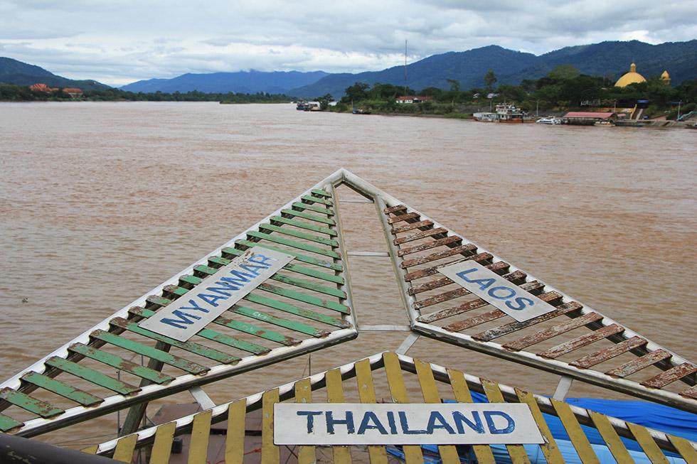 The tri-border area at Chiang Rai's Golden Triangle