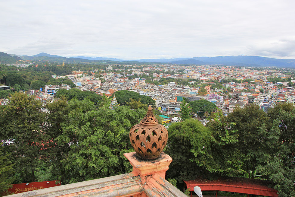 View from the Scorpion Temple on Myanmar