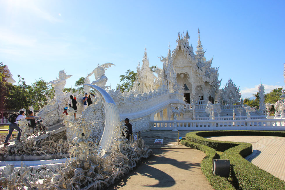 Wat Rong Khun, the White Temple in Chiang Rai
