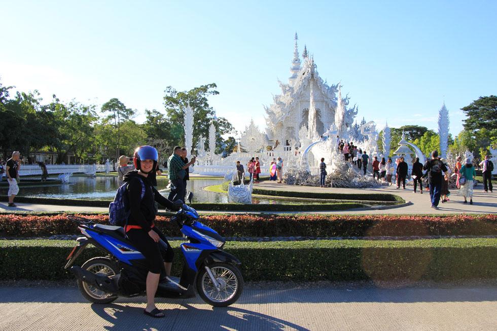 Driving to Wat Rong Khun in Chiang Rai