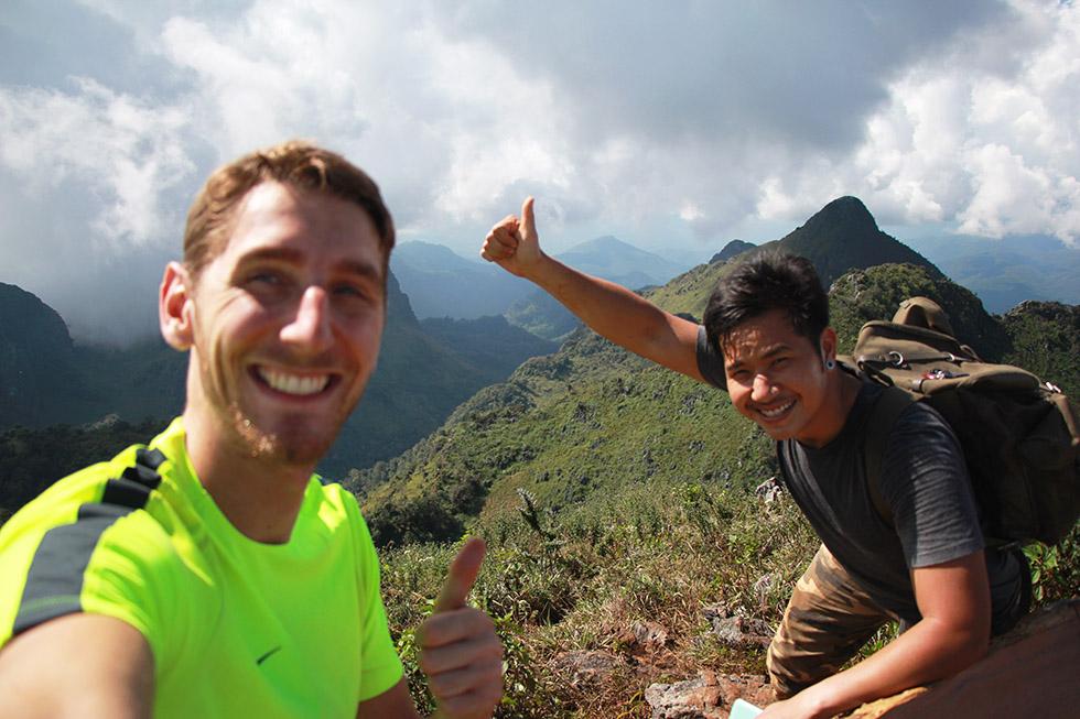 Sander and Ooh at Doi Luang Chiang Dao