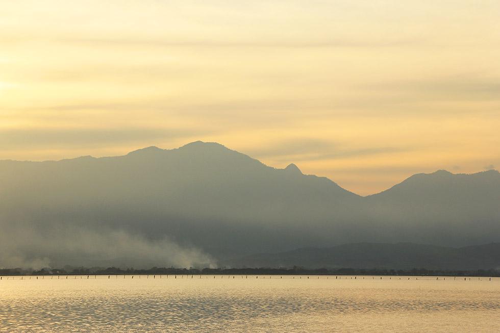 Beautiful sunset at Kwan Phayao