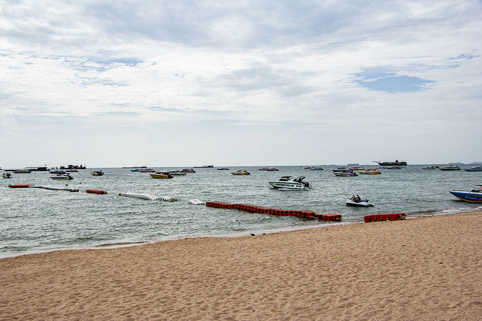Boats at Pattaya Beach