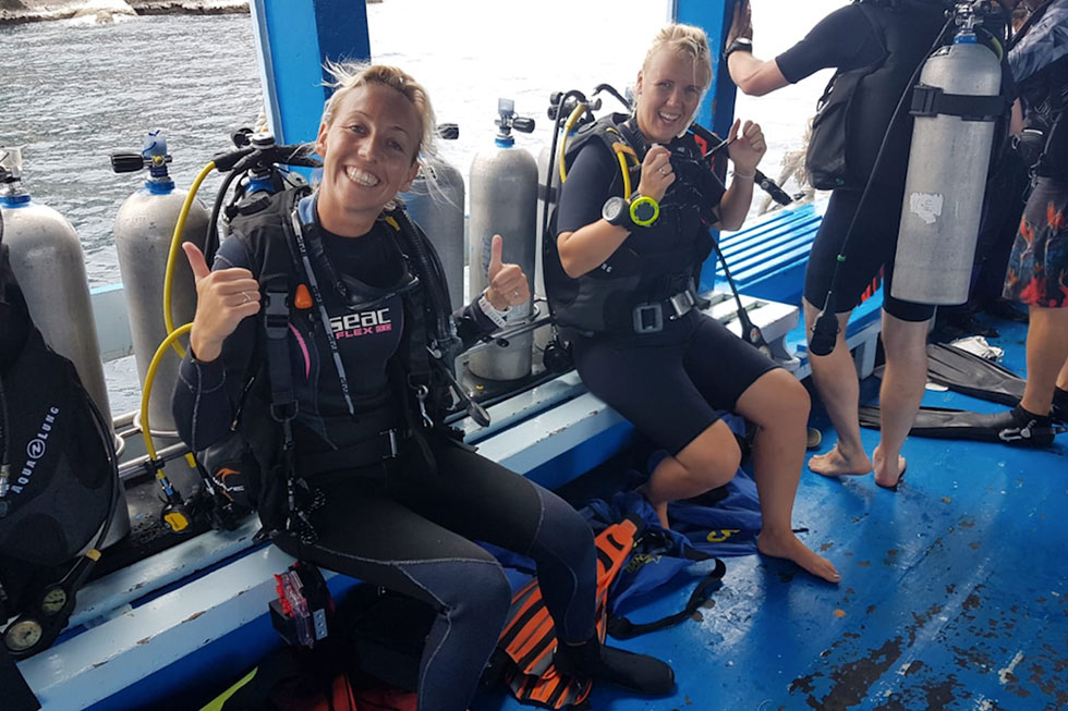 Me and my diving instructor Sanne