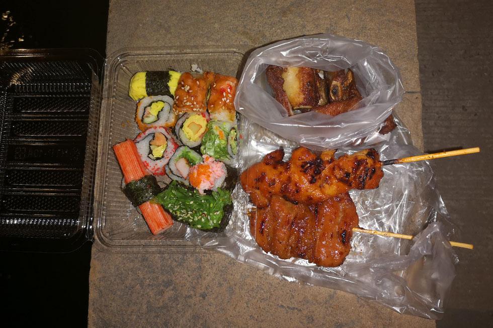 Street food at Thepprasit Night Market in Pattaya