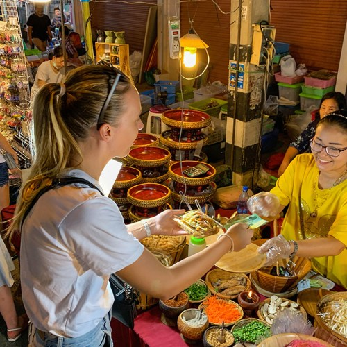 Food on the Saturday Walking Street in Chiang Mai