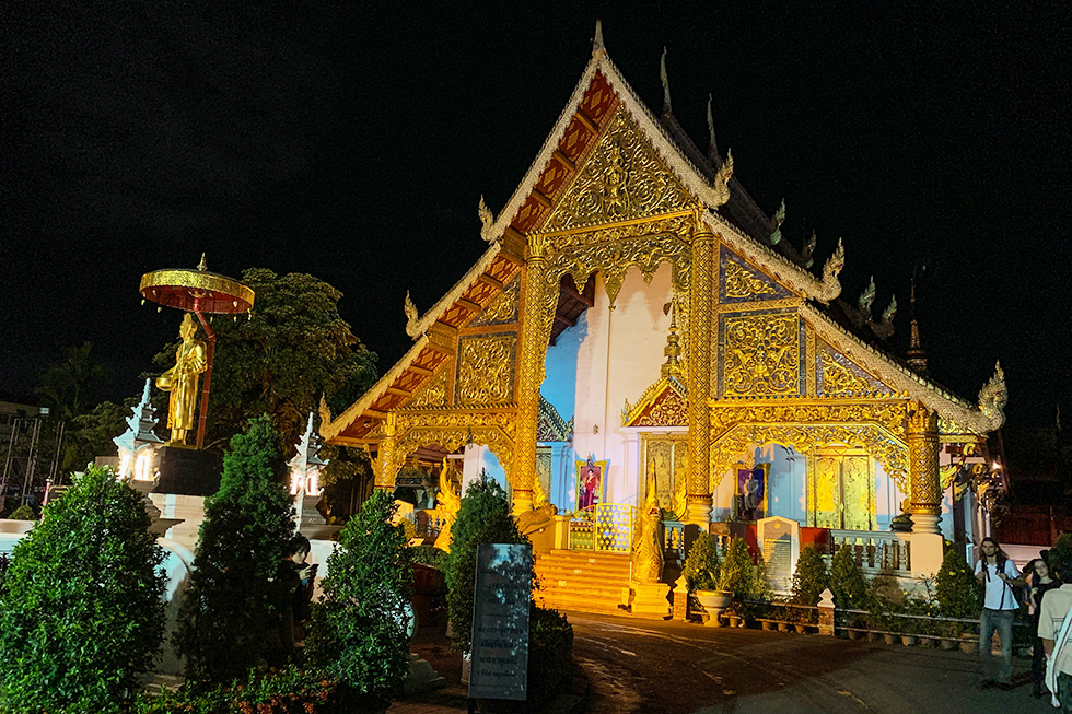 Temple on the Sunday Walking Street in Chiang Mai