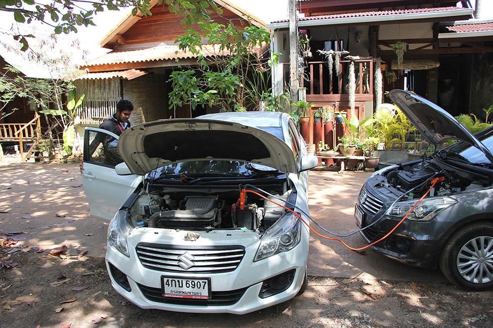Our car broke down on Koh Lanta