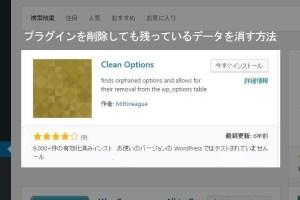 プラグインClean Optionsイメージ