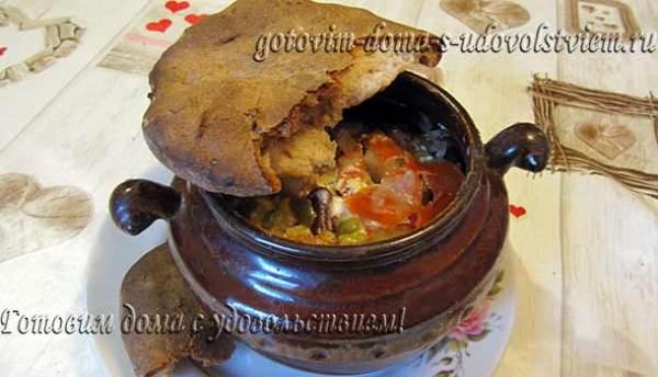 Жаркое по домашнему из свинины с картошкой в духовке