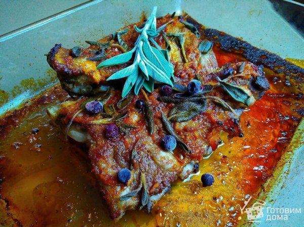 Медовые свиные рёбра с шалфеем - пошаговый рецепт с фото ...