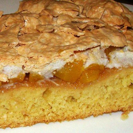 Персиковый пирог с безе - рецепт с фото, рецепт ...