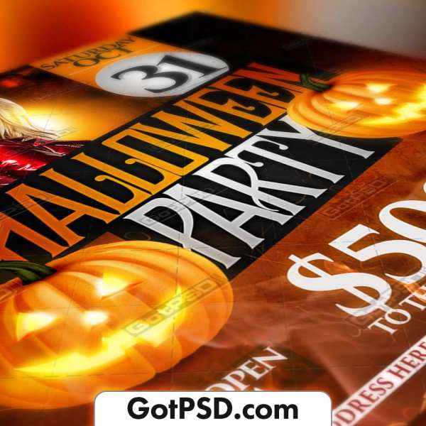 Halloween Party Flyer Psd Template - Gotpsd.com