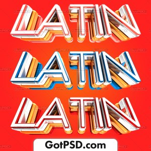 Latin 3D Title Flyer Psd Template - Gotpsd.com
