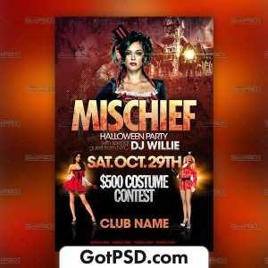 Mischief Halloween Flyer Psd Template - Gotpsd.com