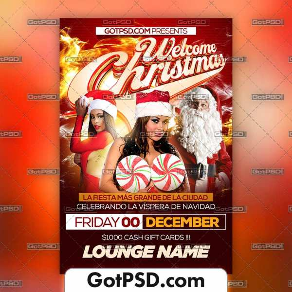 Welcome Christmas Flyer Psd Template - Gotpsd.com