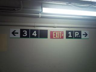 Platform Directions. Passenger Tunnel, Oakville Station, 10:40 p.m.