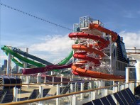 Main pool water slides