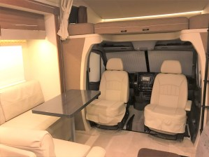 RV Interior front seating