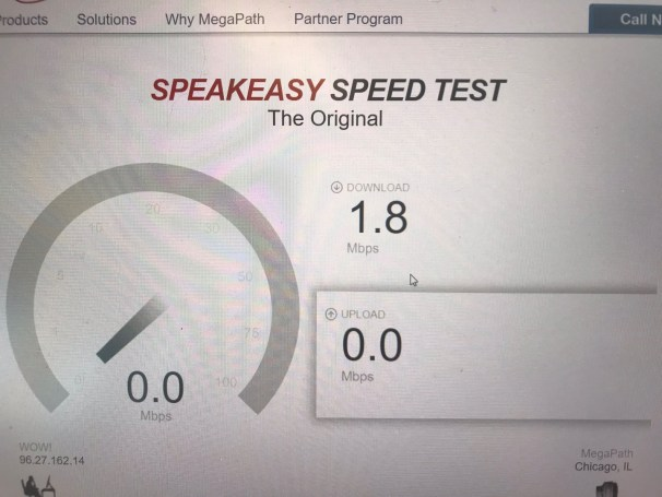 RV Resort Internet speedtest