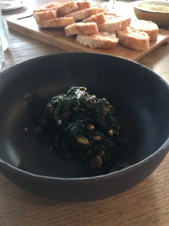 Spinach/Garlic creation- fantastic