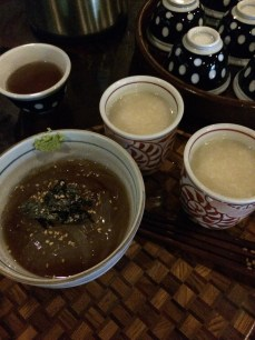 Amazake and soup