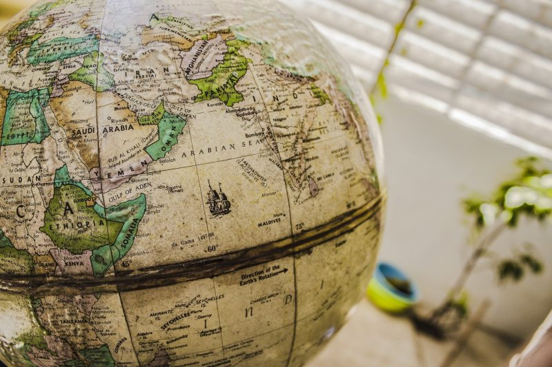 Globe, Asia