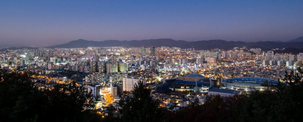 Daejeon from Bomunsan Viewing Deck