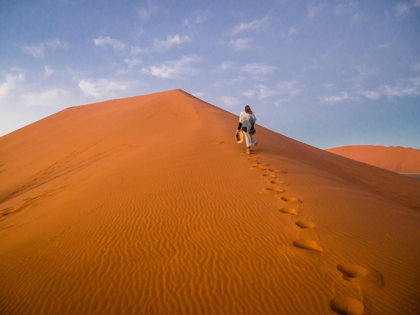 Dune 45 in Sossuvlei, Namibia